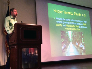 Speaking at the Greenhouse Tomato Short Course